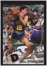 1992-93 FLEER TOTAL D: JOHN STOCKTON #6 OF 15 JAZZ 5 TIMES ALL-DEFENSIVE TEAM