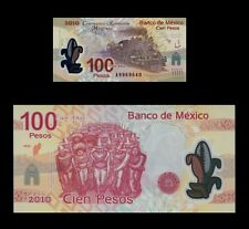 Mexico 100 Pesos 2007(2010) P128a UNC - Polymer (Serie A, Prefix A)
