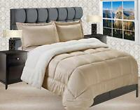 3-PC Gold Premium™  Heavy Solid Sherpa Reversible Down Alternative Comforter