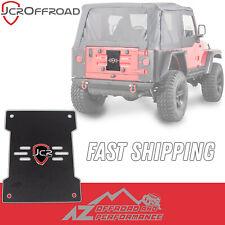 JCR Offroad Tailgate Cover Plate - Black PC - fits 1997-2006 Jeep Wrangler TJ LJ