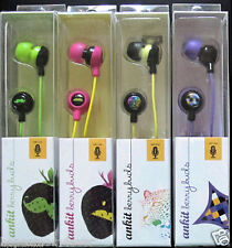 NEW 4- PK Ankit Berrybuds earbuds w/ MIC  4  fun designs PRICE IS FOR ALL 4!