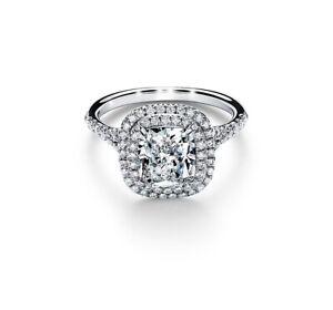 Tiffany & Co. Diamond Platinum Soleste ring