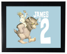 "1 Where the Wild Things Are Baby Shower or Birthday Party Favor 8X11"" Wall Print"