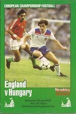 England v Hungary - European Championship - 27/4/1983 - Football Programme