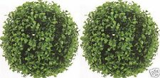 """2 ARTIFICIAL BOXWOOD BALLS OUTDOOR 10"""" TOPIARY UV PLANT BUSH 7 AVAILABLE SIZES"""