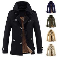 moda uomo giaccone invernale caldo cappotto parka giacca in pile SLIM MAGLIA