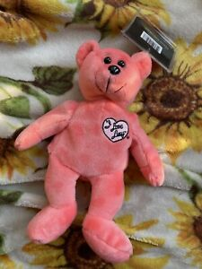 """""""I LOVE LUCY"""" PINK BEAR COLLECTICRTITTER BEANIE-SIGNATURE SERIES-WITH TAGS"""