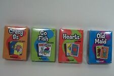 """4 Card Games: Go Fish Hearts Crazy 8s Old Maid For 18"""" American Girl Doll (Debs)"""