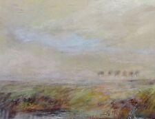 Christian Berger (*1949) Pastell-Gemälde- Mischtechnik: NORDDEUTSCHE LANDSCHAFT