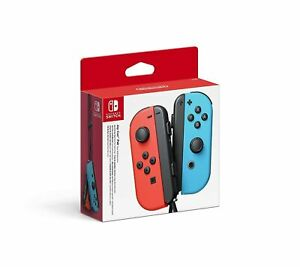 Official Nintendo Switch Joy-Con Controller Pair - Neon Red/Neon Blue NEW