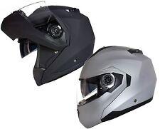 CASQUE Moto Modulable avec Double Visière Teintée Scooter PARE SOLEIL Noir