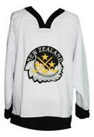 Any Name Number New Zealand Retro Custom Hockey Jersey White