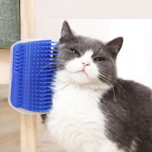 Cat Dog Massage Brush Pet Self Groomer Comb Wall Corner Grooming Brush 3 Colors