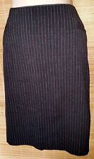 GUESS Black Strips Pencil Career Dress Classic Skirt Sz 42/S Made in Italy
