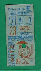 1968 NEW YORK METS VS. PITTSBURGH PIRATES TICKET STUB ED CHARLES 3-3 2 HR