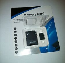 128GB micro SD SDXC Flash TF Memory Card Class 10 MicroSD HC w/ FREE SD Adapter