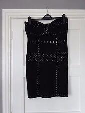 ** ** Negro Tachonado Vestido BNWT ** ** Tamaño L
