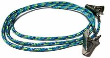 Blue with Green and Purple Paracord Clip Eyeglass Holder, Clip Eyeglass Cord 332