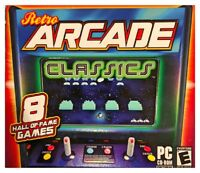 Retro Arcade Classics Pc Brand New Sealed Free US Ship 8 Great Arcade Games XP