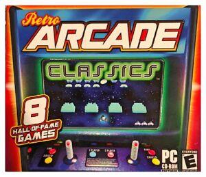 Retro Arcade Classics Pc New XP 8 Games Laser Bubble Hopper Bounce Break Gobbler
