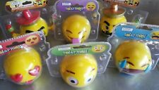 6pc lot emoji character Funny dance Bobble Head Toy Gift Solar Power Car Office