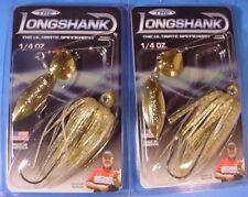 """Lot of 2 """"LONGSHANK"""" 1/4 oz Spinnerbait Gold Shiner  CWGG-072 Charlie Ingram Ed."""