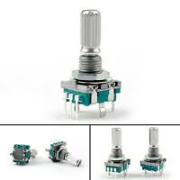2PCS Rotary Encoder Switch EC11 Audio Digital Potentiometer 20mm KQ Handle US