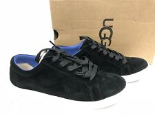 Ugg Australia Karine Womens Fashion Sneaker Black Suede Lace Up Shoe 1015044