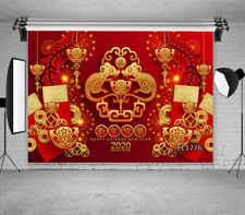 New Year 2020 Year of Mouse Chinese Style Backdrop 7x5ft Vinyl Photo Background