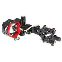 AXT X 5  pin bow sight Compound Bow Micro-Adjust 2'' HD Fiber Guard Micro LED