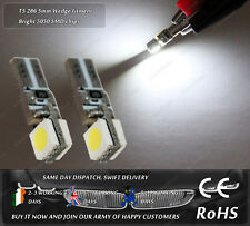 LED T5 286 Wedge Xenon White Dashboard Lights Cluster Speedo Instrument Bulbs