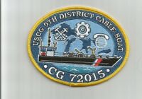 USCG US Coast Guard CG72015 9th District Cable Boat patch 3-1/2 X 4-1/2 #2633