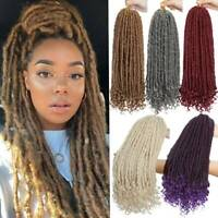Crochet Goddess Faux Locs Dreadlock Afro Braids Hair Extension Curly Ends Wavy