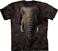The Mountain Elephant Face T Shirt Top Elefant Tier Wildnis S - 3XL  #3218 507