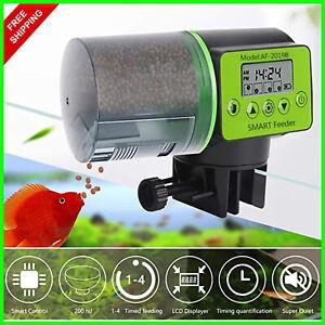 Fish Feeding Machine Feeder Automatic Aquarium Dispenser Food Timer Auto Digital