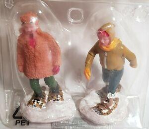 RETIRED Lemax Village Holidays Season Figurine Rugged Snowshoers  #72385. c.2007