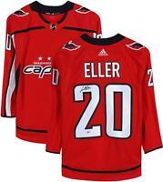 Lars Eller Washington Capitals Autographed Red Adidas Authentic Jersey
