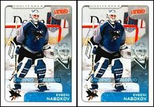 2x UD VICTORY 2001 EVGENI NABOKOV NHL SAN JOSE SHARKS GOALTENDER #300 MINT LOT