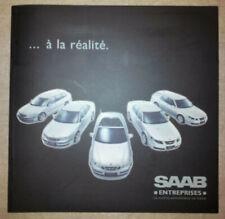 Catalogue publicitaire automobiles Saab, année 2000, modèles 900 et 9000