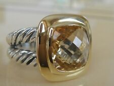 $1050 DAVID YURMAN 18/K GOLD,SS ALBION CHAMPAGNE CITRINE RING