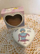 1994 Precious Moments Heart Shaped Trinket Box
