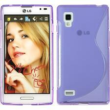 Silicone Case for LG Optimus L9 S-Style purple + protective foils