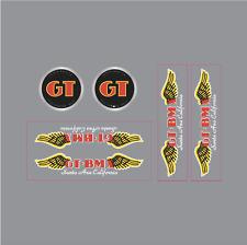GT BMX Santa Ana decal set - black/white font on clear