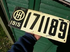 Antique Ohio license Plate 1915 Vintage Car Truck Parts Old 6 Digit Black White