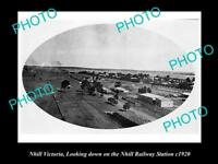 OLD LARGE HISTORICAL PHOTO OF NHILL VICTORIA, VIEW OF RAILWAY STATION c1920