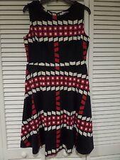 NWT Ruby Belle Shrimpton Flare Dress Navy Red Sz US 10 UK 14 Measurements