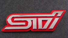 Red STI Badge Impreza WRX TURBO