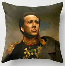 Nicolas Cage portrait cushion cover Nic Cage