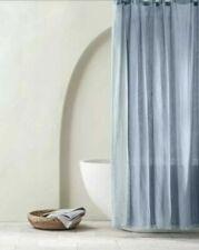 Casaluna Gauze Shower Curtain Blue New