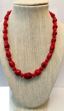 "Jay King Red Sea Bamboo Coral Beaded 18"" Necklace New with Tags"